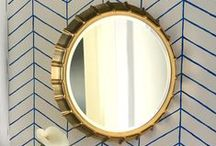 mirrors / Mirrors add style and personality, they make a small room feel larger and a dark room brighter!