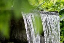 water features ༺ ♥ ༻ / there is serenity in these garden spots ~~~ one of my most loved boards