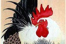"Ohara Koson / Ohara Koson (Kanazawa 1877 – Tokyo 1945) was a Japanese painter and print designer of the late 19th and early 20th centuries, part of the shin-hanga (""new prints"") movement."