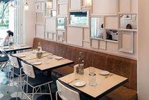 restaurant design / Restaurant interiors and design inspiration.