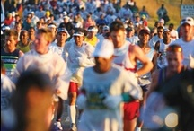 Comrades - The ultimate human race / An Ultra Marathon run from Pietermaritzburg to Durban South Africa or vice versa. It was founded in memory of those people lost during the first world war.  The ultimate human race in memory of the ultimate human sacrifice.