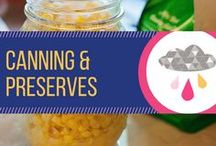 Canning & Preserves / Recipes for canning your own food and making jellies, jams, and relishes.