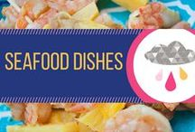 Seafood Dishes / Recipes involving seafood like fish, salmon, cod, shrimp, mussels, crab, and others.