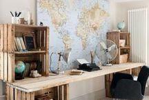 Espace(s) de travail et bureaux / Travailler chez soi ou avoir simplement un bureau dans son salon, voici la sélection des espaces de travail qui m'inspirent et me donnent envie de m'y mettre !
