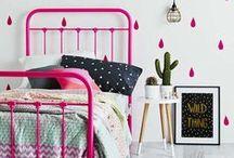 Chambre d'enfant et de bébé en couleurs / Des idées et de l'inspiration avec des chambres de bébé et d'enfant hautes en couleur ! Osons les chambres et la décoration orange, menthe, turquoise, rose ...