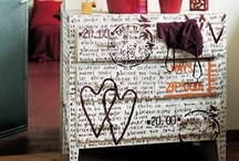 painted furniture  / furniture painted and decorated in an original way / by Tania Pezzetti