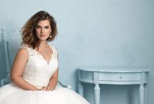 Allure Woman Bridal Gowns / The Allure Women's collection features gorgeous structured fabrics along with lace appliqué and one spectacular satin sheath.