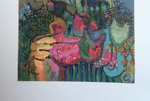 """Samar Albader's Art / Abstract """" sound and soul from the east """"  Mixed media art - acrylics and more"""