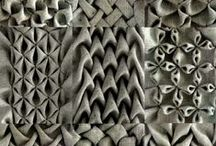 Textures / Tactile graphic designs that may work into paintings or zentangles.