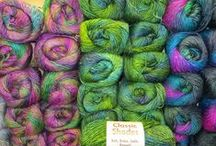 Classic Shades / Classic Shades is a soft-to-the touch acrylic/wool roving style yarn featuring a stunning selection of colors which shade easily, one to the next. With a sheen similar to silk, finished garments take on a painterly quality perfect for sweaters and winter accessories --- plus, this worsted weight yarn is machine washable!