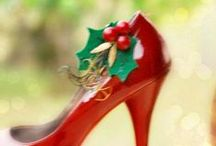 Christmas / Holidays Accessories (Christmas in July Gifts CIJ) / Shoe Clips, Head Pieces, Fascinators, Headbands ... Children & Women Gift Ideas! (Christmas in July)  ... LOVE custom orders! http://sofisticata.etsy.com