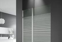 Paneles de Bañera / Paneles de bañera con hoja abatible y perfileria en aluminio