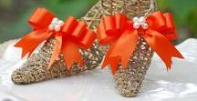 Fall / Autumn Wedding, Bridal Bride Bridesmaids Shoe & Hair Clips Ideas! / Handmade Floral & Feather Accessories & Gift Ideas for the bride to be and bridesmaids! ... I LOVE custom orders! http://sofisticata.etsy.com  Instagram: instagram.com/Sofisticata_Couture