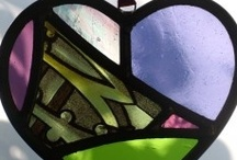 Broken Heart / mosaic, glass, hearts made of pieces, or whole small objects / by Dirk Gibson