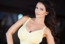 Denise Milani / Stuningly beautiful czech girl. And because i am from Czech too, she is even more attractive for me.