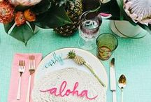 | Tropical Wedding | / Whether you're planning a destination wedding, or just fascinated by all things tropical and colorful, we've rounded up our favorite tropical wedding inspirations to help you out!