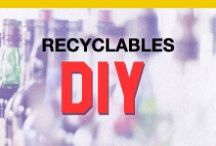 Recyclables DIY / Don't waste your bottles, or anything else that can be recycled. See what you can make out of it!