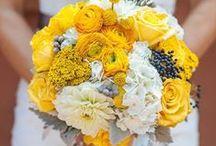 Hochzeit: Gelb & Weiß / Eine Hochzeit in den Farben Gelb und Weiß - mit leuchtenden Wiesenblumen, weißen Akzenten und frischen Dekorationen im strahlenden Gelb.