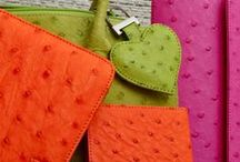 Ostrich2Love / Luxury ostrich leather ethical fashion accessories lined with suede, handmade and fairly traded