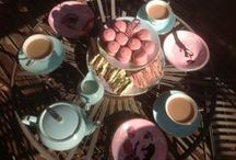 High tea / #hightea #afternoontea #sweets #treats #parties #party #kitchentea #cakes #biscuits #petitfours #minicakes #lollies #colour #color #cupcakes #sponge #pretty #ideas #inspiration