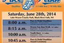 Pace & Pedal Duathlon / 5.5 Mile Run & 10 Mile Bike, Black River Falls / by Black River Memorial Hospital