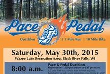Pace & Pedal Duathlon / 5.5 Mile Run & 10 Mile Bike, Black River Falls / by Black River Memorial Hospital