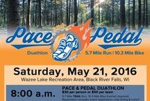 Pace & Pedal Duathlon / 5.7 Mile Run & 10.3 Mile Bike, 5k, youth race-  Black River Falls