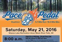 Pace & Pedal Duathlon / 5.7 Mile Run & 10.3 Mile Bike, 5k, youth race-  Black River Falls / by Black River Memorial Hospital