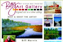 Bay Art Gallery Reception August 2014 / This reception was held in honor of our newest artist William Marvin.