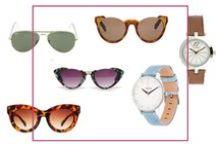 LUNETTES DE SOLEIL & MONTRES / Sélections de montres et lunettesde soleil tendances