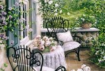 cottage gardens and garden ideas / Tea for 2 in fresh air and tranquility
