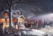 Chrstmas White and Magical / Snow, Sleigh Rides, and spectacular colour