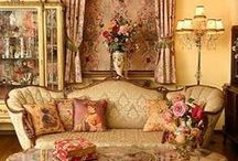 Vicorian - Edwardian Era / Embellished furnishings regal flair soft colourings  whats not to love