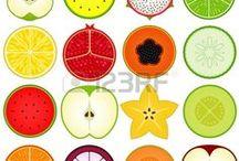Fruits, Flowers, Pattern / Fructe, Flori, paternuri