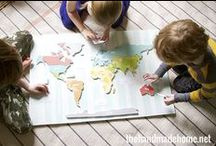 Geography / Let's explore the globe with kiddos!
