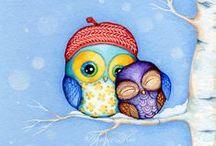 Owls / Owls are sooooooooooooooo cute. :)