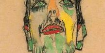 ilustrações e um café / Enquanto passo o café, minha coluna já torta, sente todo o peso de existir. O frio de casa e as incertezas pairam nessa monotonia. Eu jorro em um pedaço de papel com o auxilio de um grafite, todas as minhas agonias.