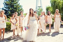 <3 Dressing for the Big Day!! / Wedding/Bride, Maid of Honor, Bridesmaid & Flower Girl Dresses,  Shoes, Jewellery, Hair & Make Up!  * Ideas for Melissa & Jared's Romantic Rustic Country Wedding  ~*~ / by Melissa Lindsay