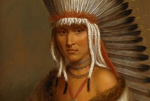 Native American / During the 1800th century native american leaders were invited to Washington, to negotiate with the government. The Bureau of Indian Affairs initiated the painting of a number of portraits. One of the painters, Charles Bird King (1786 -1862) painted 147 portraits of native americans during the 1820´ies. The National Museum of Denmark posesses nine paintings, which came to the museum from the estate of govenor at the Virgin Islands, Peter von Scholten.