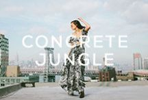 CONCRETE JUNGLE / Blue Life Spring 2014 collection featuring blogger Danielle of @weworewhat and photog Ali Mitton  • http://shopplanetblue.com/spring-2014-campaign-featuring-we-wore-what / by Planet Blue