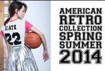 American Retro 2014 Spring/Summer  / As usual, urban outfitting is the focus on American Retro's Summer 14. The collection is a balancing act between modern street style and evening glamour, inspired by a juxtaposition of the decade of the nineties and the minimalism of today.