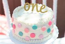 Polka Dot 1st Birthday / Baby Girl first birthday polka dot theme