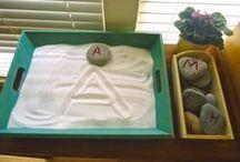 Preschool Alphabet ideas / Making learning fun