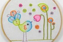 Cute Birds Embroidery Handmade (using REVIDEVI patterns) / Hand embroidery creations featuring birds, owls, and trees. Cute patterns by REVIDEVI