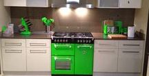 Rolling Countryside Style / Wander around Rolling Countryside... the green hue of these kitchen appliances will leave everyone green with envy!
