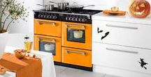 Peach Blush Style / Bask in the glorious glow of summer and indulge in mouth-watering Peach Blush. Orange cookers and ovens so bright that they will bring your kitchen to life!