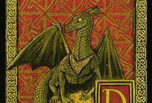 Dragons / Les dragons présents dans les enluminures.