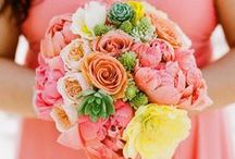 [Wedding] bouquets coral pink