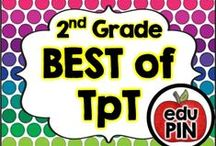 2nd Grade - Best of TPT / Teachers Pay Teachers (TpT) is by far one of the best teacher resource sites I've ever seen. My goal is to bring TpT authors together to showcase their awesome resources! RULES: You can pin up to 3 appropriate pins per day. Use a 1:3 pin ratio (1 paid product for every 3 freebies or ideas). Limit repins to once a month. Also, please do not invite to this board.