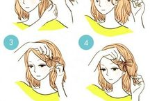 Hannah's hair / This bord contains easy hairs styles for semi long hair and cute coulors that you could put in your hair